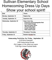 SES Homecoming Dress Up Days