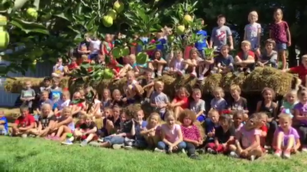 1st Grade at the Okaw Valley Apple Orchard