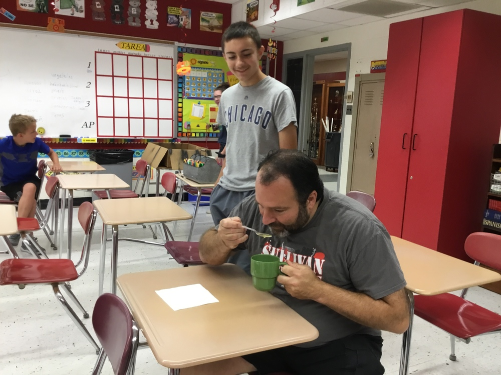 Mr. Waelde tries Yerba Mate Tea.