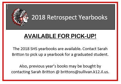 2018 SHS Yearbook are available.