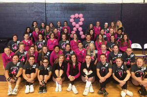 Volleyball Teams Show Support