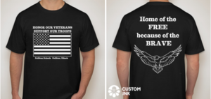 Veterans Day TShirt Order