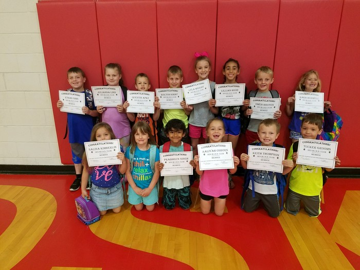 1st Grade MIND Club members