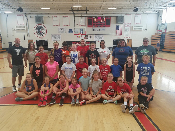 MS girls' b-ball camp