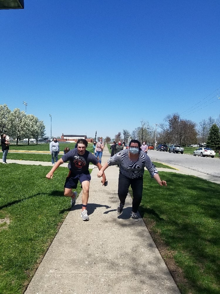 outdoor relay race