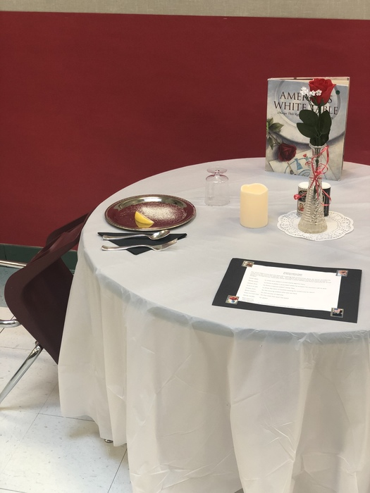 SES sets the POW/MIA table for Veteran's Day