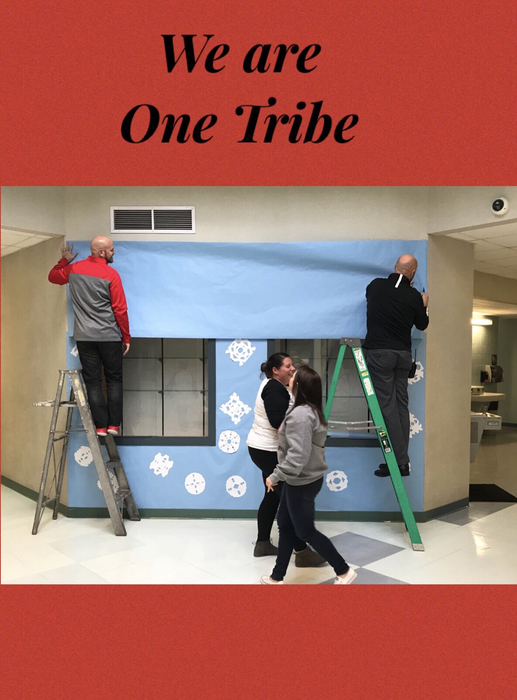 Teamwork makes the dream work! Mr. Campbell and Mr. Allen did not hesitate to jump in and help out a couple of colleagues. This is just one example of how we truly are One Tribe.