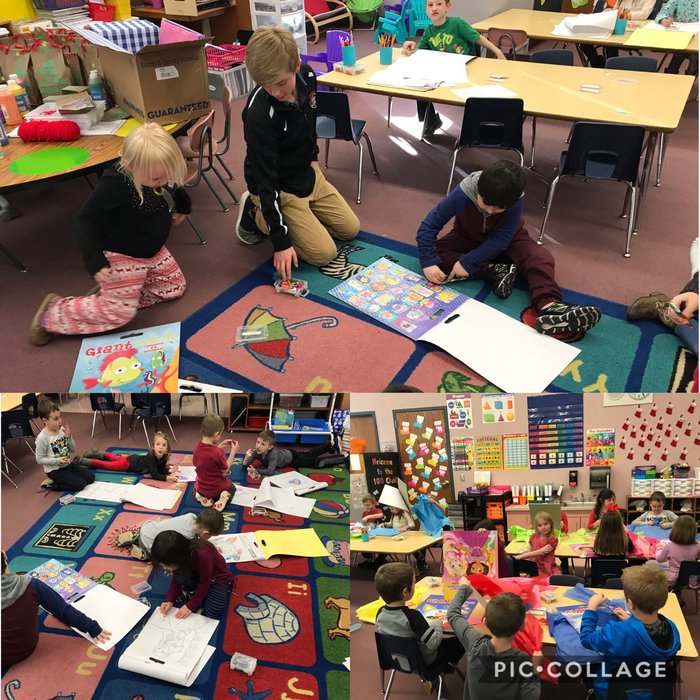 Mrs. Watkins' students enjoyed coloring in their jumbo books that they received from their middle school helper, Mr. Paul! We are so lucky to have Paul working with us!