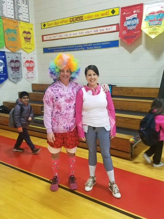 Coach Typer and Mrs. Leach