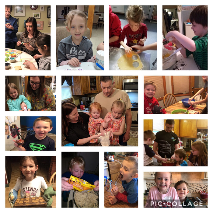 Mrs. Watkins had 13 students send in family baking pictures. They are enjoying The Chocolate Touch, spending time with family, and making memories!