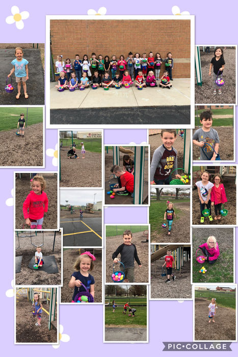 Mrs. Watkins' class enjoyed hunting eggs this morning!
