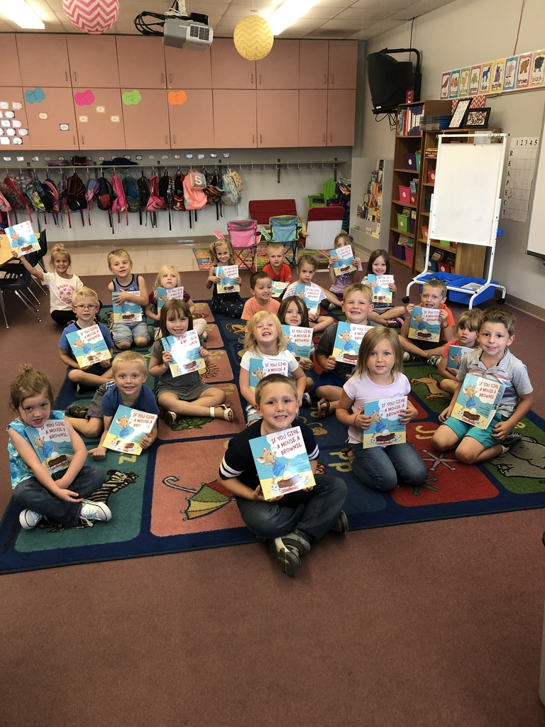 Mrs. Watkins' students have all been sponsored for receiving one book each month at no cost to their families. They were so excited to receive their first book: If You Give a Mouse a Brownie by Laura Numeroff.