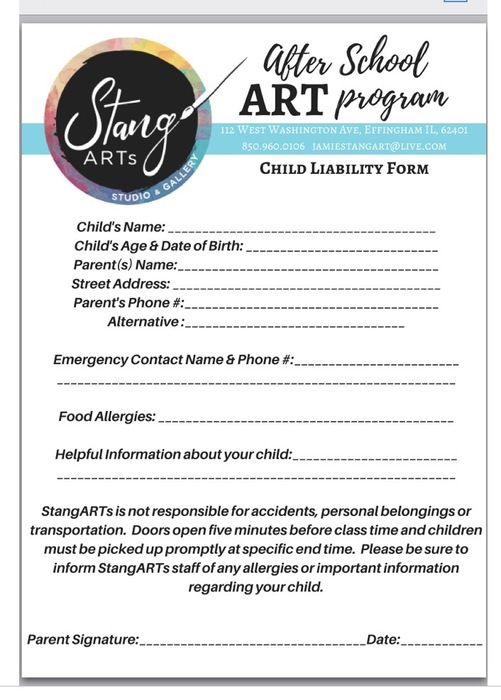 Stang Art waiver