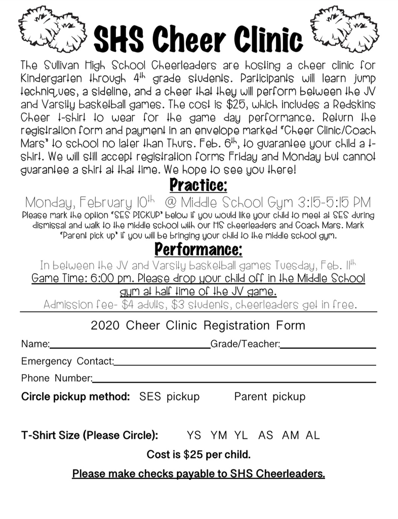 Cheer clinic sign up